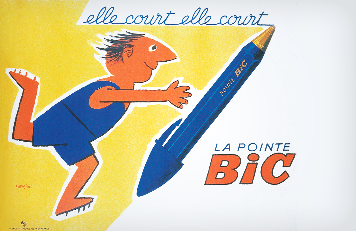 "Old French BIC ad ""elle court elle court"""