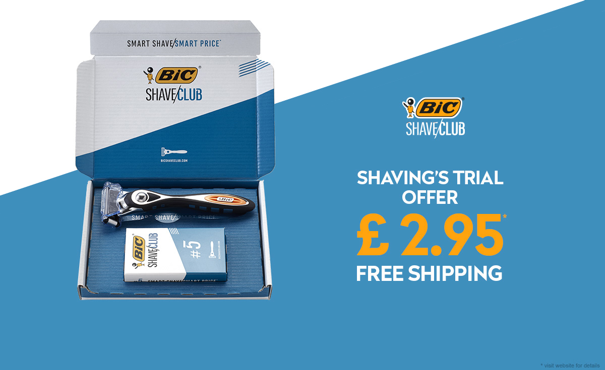 bic shave club offer at 2.95 £